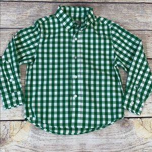 Eleanor Rose Green Gingham Holiday Christmas Top